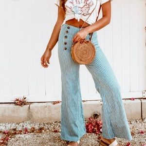 7 For All Mankind Striped Flare Jeans